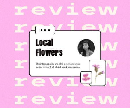 Flowers Store Customer's Review Medium Rectangle Design Template