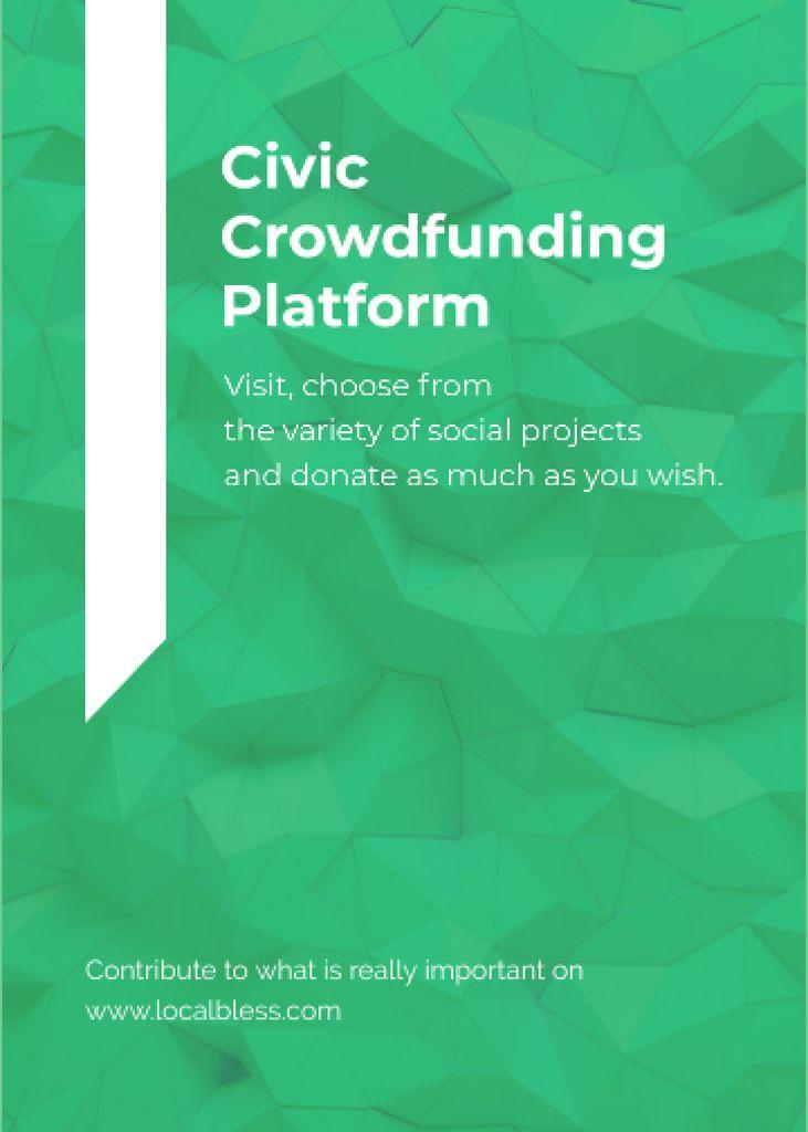 Crowdfunding Platform ad on Stone pattern — Maak een ontwerp
