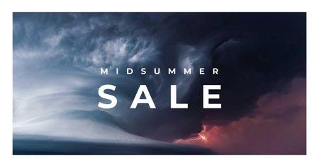 Ontwerpsjabloon van Facebook AD van Sale Announcement with Stormy Sky
