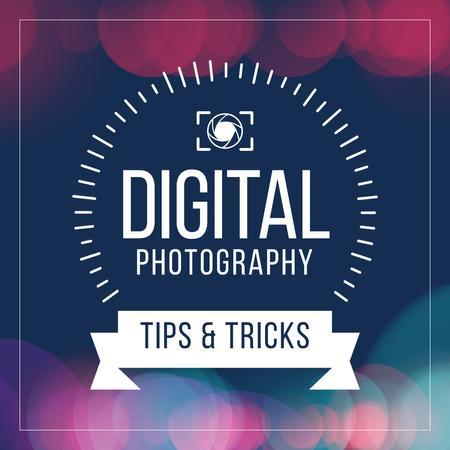 Plantilla de diseño de Digital photography tips with Camera Instagram AD