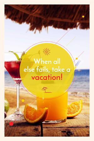 Modèle de visuel Summer cocktail on tropical vacation - Pinterest