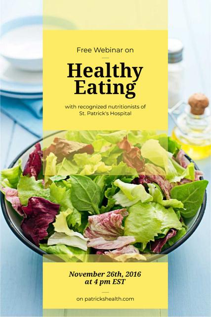 Plantilla de diseño de Free webinar of healthy eating Pinterest