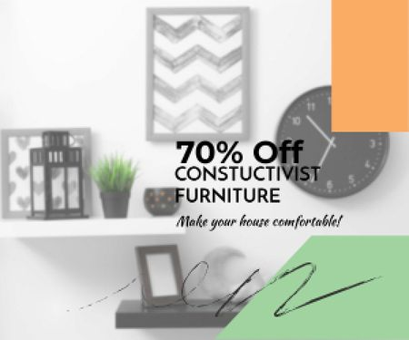 Modèle de visuel Constructivist furniture sale - Medium Rectangle
