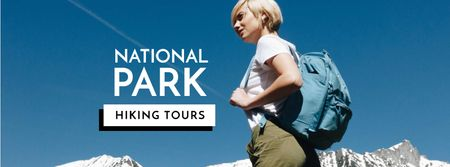 Travel Tour Sale Woman in mountains Facebook cover – шаблон для дизайну