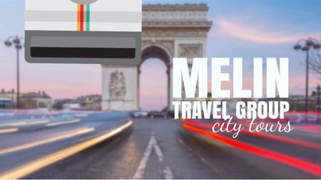 Paris Arc De Triomphe Famous Travelling Spot Full HD video Modelo de Design