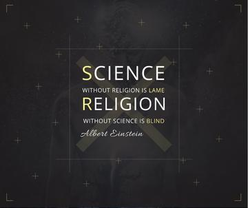 Science and Religion Quote with Human Image