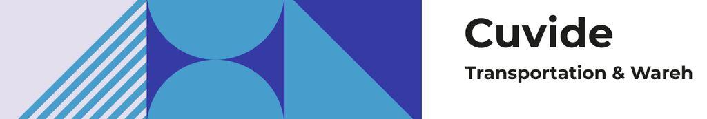 Transportation Company profile on geometric pattern — Modelo de projeto
