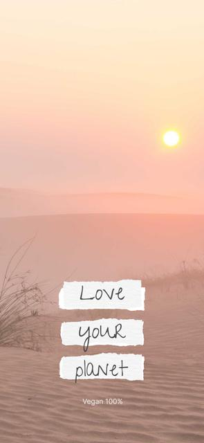 Eco Concept with Sun in Desert Snapchat Geofilter – шаблон для дизайна