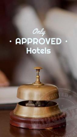 Ontwerpsjabloon van Instagram Story van Hotels Guide Bell at Reception Desk