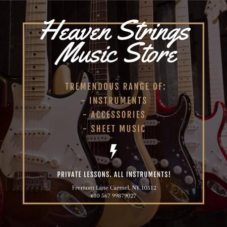 Plantilla de diseño de Music Store Ad Instagram