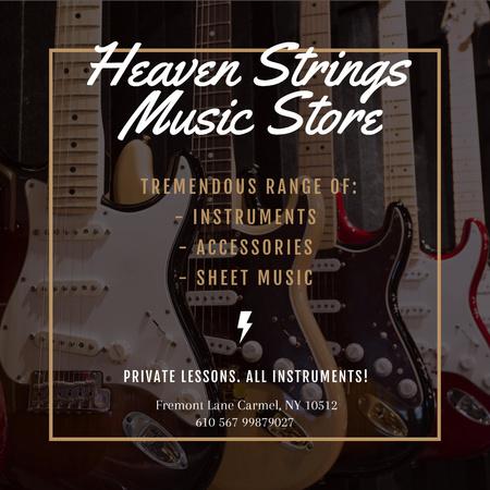 Music Store Ad Instagram – шаблон для дизайну