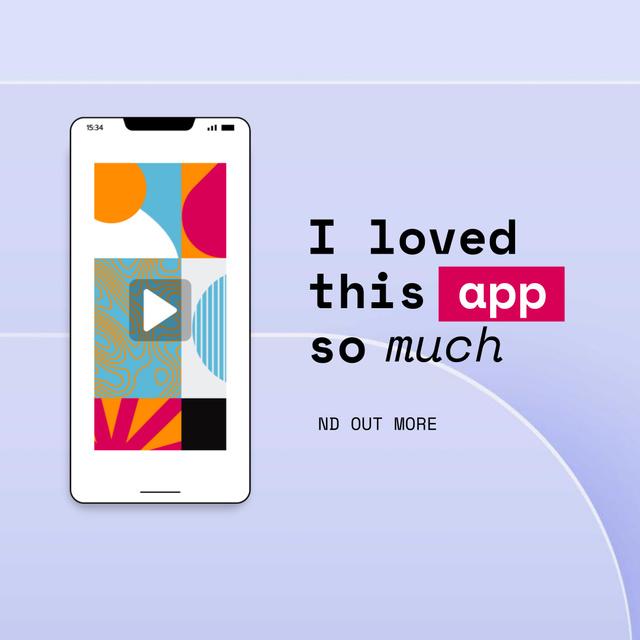 Modèle de visuel Bright App on Phone Screen - Animated Post