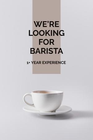 Platilla de diseño Cup of Coffee in white Pinterest
