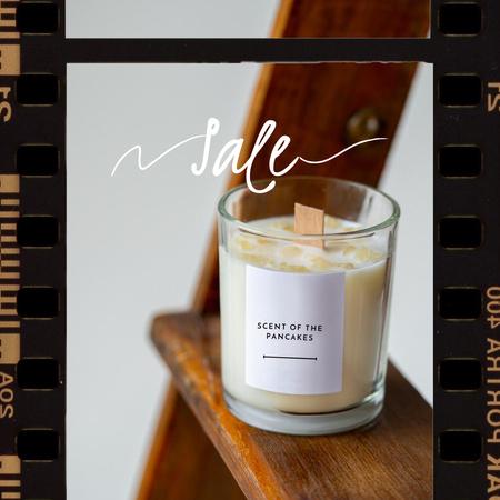 Thanksgiving Offer with Aromatic Candle Instagram Šablona návrhu