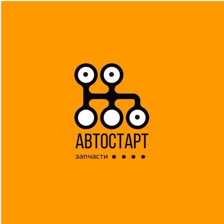 Car Spare parts Ad with Transmission Icon Logo – шаблон для дизайна