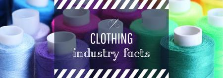 Designvorlage Clothing Industry Facts Spools Colorful Thread für Tumblr