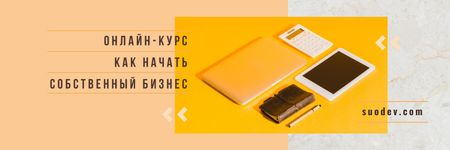 Electronics Summit Announcement Digital Devices and Notebook Twitter – шаблон для дизайна