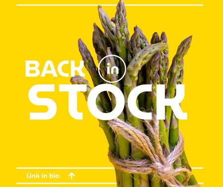 Designvorlage Veggie Store Offer with Fresh Asparagus für Facebook