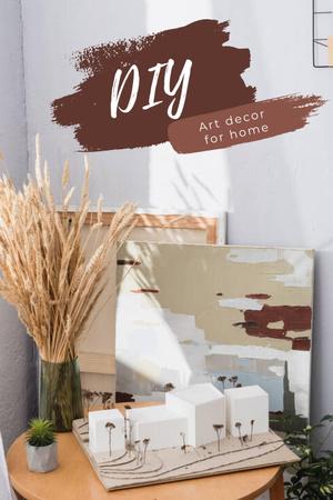 Template di design Art Decor for Home with Girl Artist Pinterest