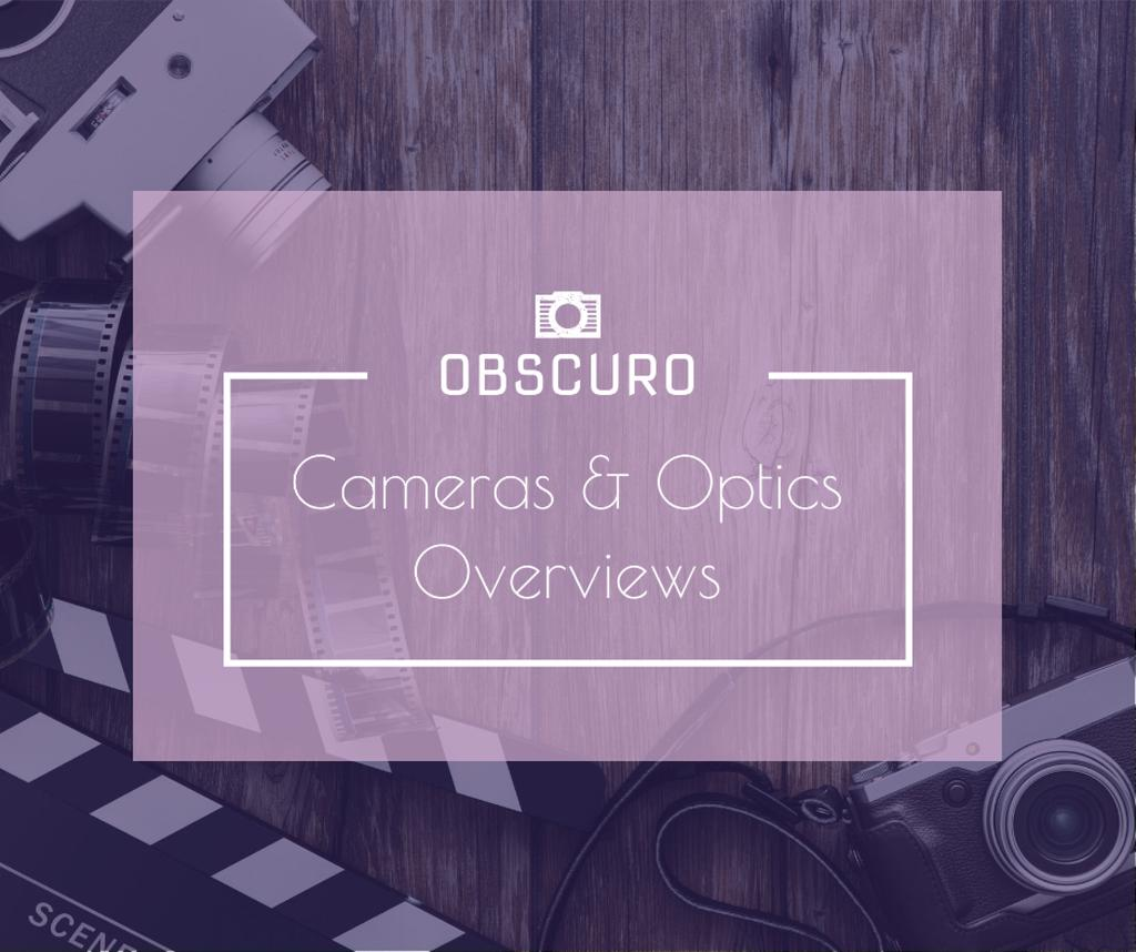Camera and Optics Guide with film Facebook Design Template