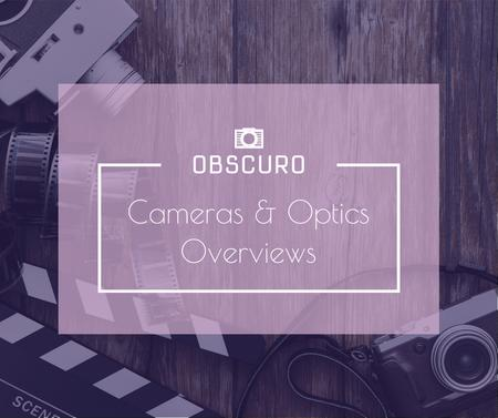 Camera and Optics Guide with film Facebook – шаблон для дизайна