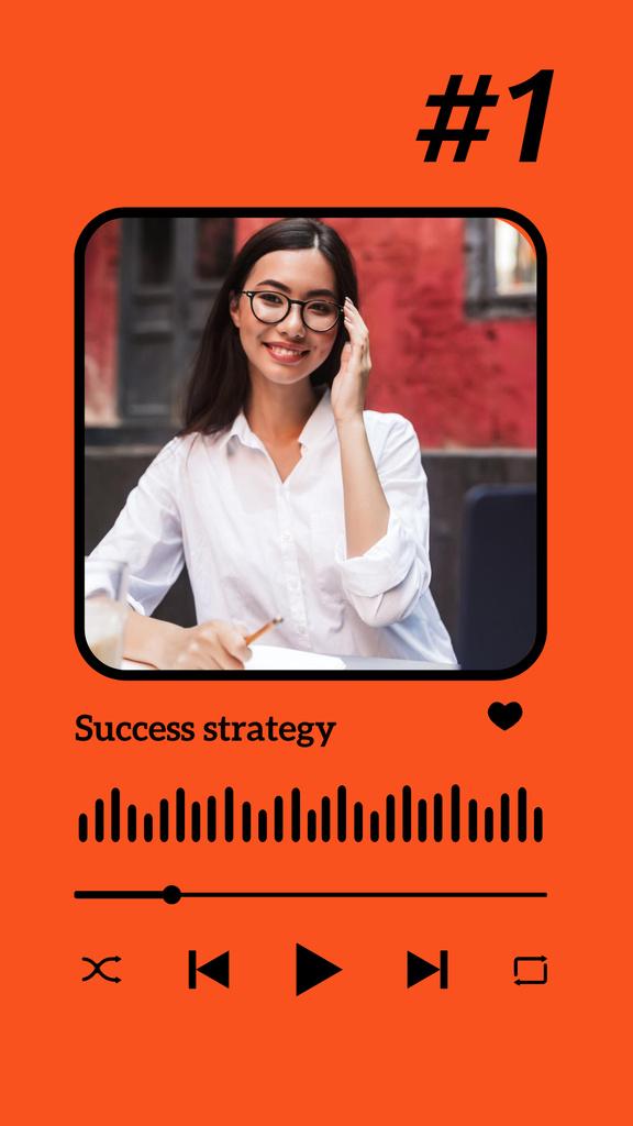 Ontwerpsjabloon van Instagram Story van Podcast Topic Announcement with Successful Businesswoman