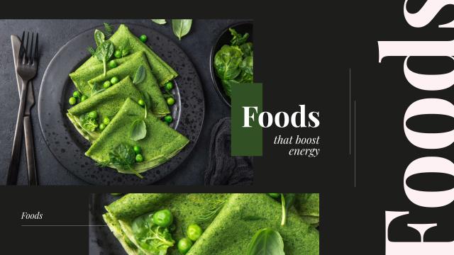 Healthy Green Pancakes on Black Youtube Tasarım Şablonu