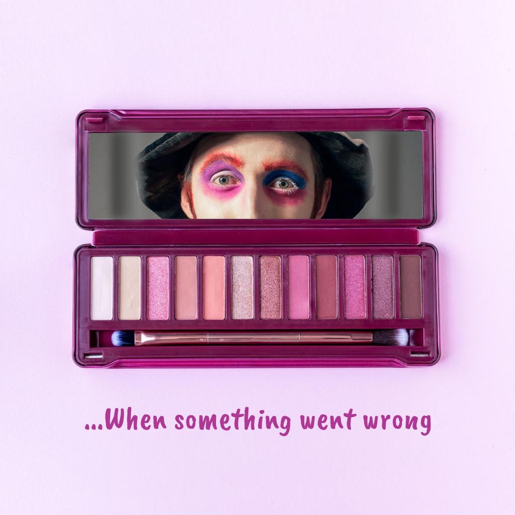 Funny Joke with Man in Makeup Instagramデザインテンプレート