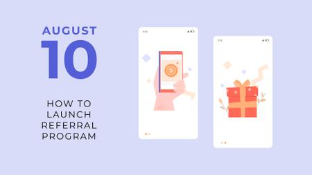 Template di design Cashback offer on Phone screen FB event cover