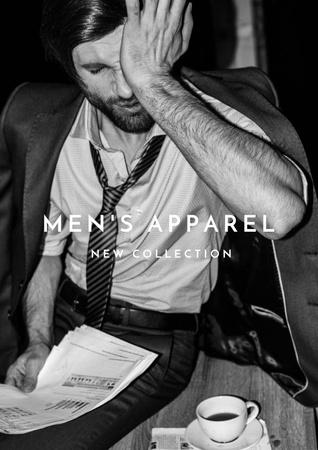 Template di design Man in stylish costume and glasses Poster