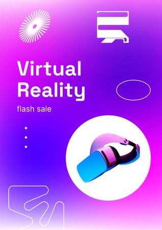 Designvorlage VR Equipment Flash Sale Ad für Poster