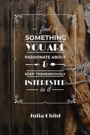 Ontwerpsjabloon van Pinterest van Fresh Bread with inspirational quote