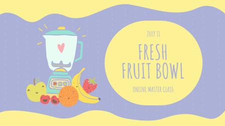 Designvorlage Raw Fruits with Kitchen Blender für FB event cover