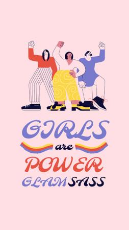Girl Power Inspiration with Women on Riot Instagram Story – шаблон для дизайна