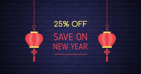 Chinese New Year Discount Offer Facebook AD – шаблон для дизайна
