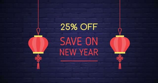 Chinese New Year Discount Offer Facebook AD – шаблон для дизайну