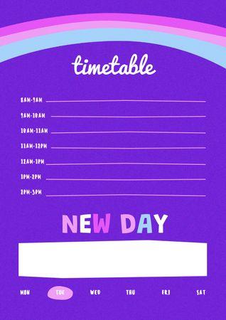 Designvorlage Day Planning Timetable für Schedule Planner