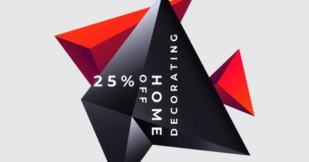 Template di design Decor store offer on Digital Elements Facebook AD