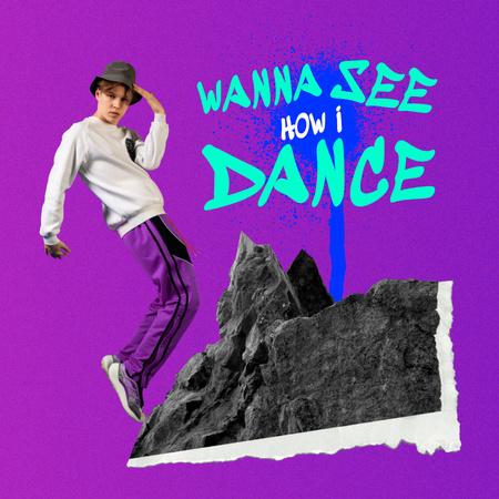 Funny Guy in Hat showing Dance Move Instagram – шаблон для дизайну