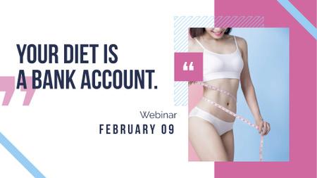 Weight Loss Program with Slim Female Body FB event cover Modelo de Design
