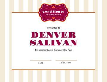 City Fair Participation confirmation