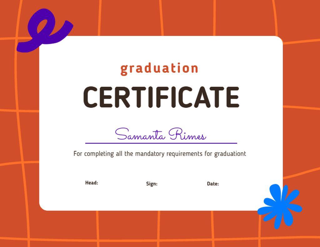 Graduation Award for Course Completion Certificate Šablona návrhu