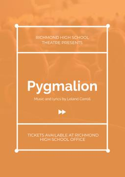 Pygmalion playing with audience in theater