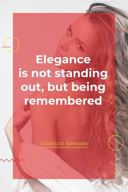 Szablon projektu Citation about Elegance being remembered Pinterest
