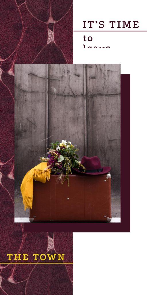 Ontwerpsjabloon van Graphic van Travel Inspiration Vintage Suitcase