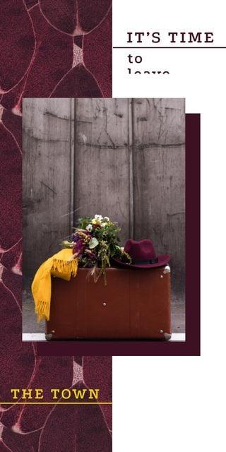 Plantilla de diseño de Travel Inspiration Vintage Suitcase Graphic