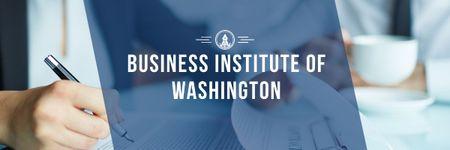 Business institute Ad Email header Modelo de Design