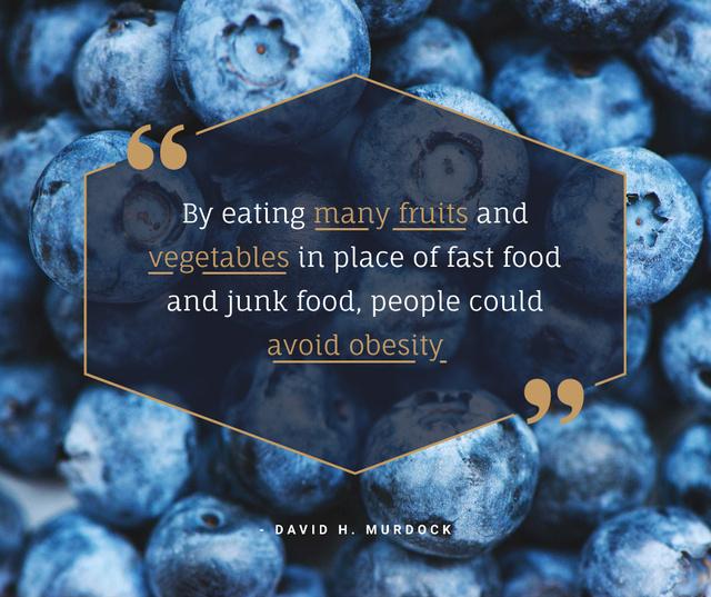 Plantilla de diseño de Raw ripe Blueberries for healthy diet Facebook