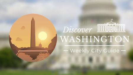 Plantilla de diseño de Washington Monument Travelling Attraction Full HD video