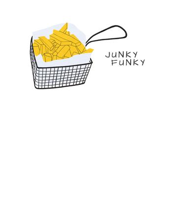 Ontwerpsjabloon van T-Shirt van Hot French Fries